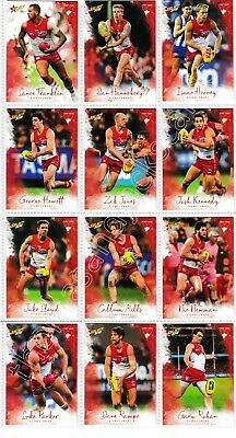 2018 Afl Select Footy Stars Sydney Swans Common Team Set All 12 Cards