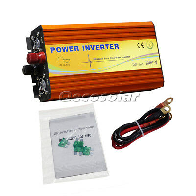 1000W 1Kw Pure Sine Wave Power Inverter Soft Start Off Grid Dc 24V To Av 220V