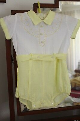 Vintage 1960's Baby Romper Suit/all In One Size 0