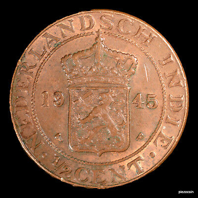 Netherlands East Indies 1/2 Cent 1945 #b131