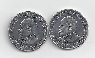 2 DIFFERENT 1 SHILLING COINS from KENYA DATING 2005 & 2010