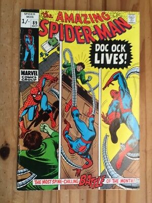 Amazing Spider-Man #89 .Marvel 1970 . Doc Ock. Grade FN+