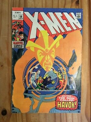 X-Men #58 1st Havok in Costume.Neal Adams.1969.Grade FN+