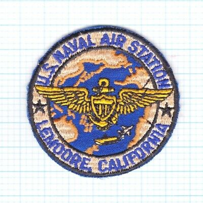 "Rare Usn Flight Jacket/suit Patch, Nas Lemoore Ca ± 3X3"" Early1960's Us Made"