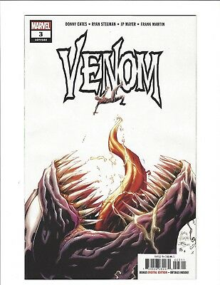 VENOM 3 Stegman Cover A DONNY CATES 1st APPEARANCE KNULL Marvel 2018 NM+