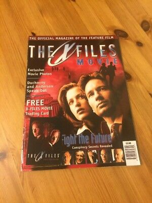 The X Files Movie Magazine 1998 With Trading Card