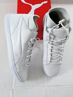 PUMA MEN'S CLYDE X Bkrw High Top Leather Basketball Shoe