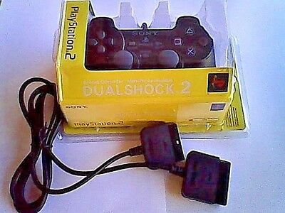 Playstation 2 Dualshock 2 Controller Genuine Sony Product  ( Black )
