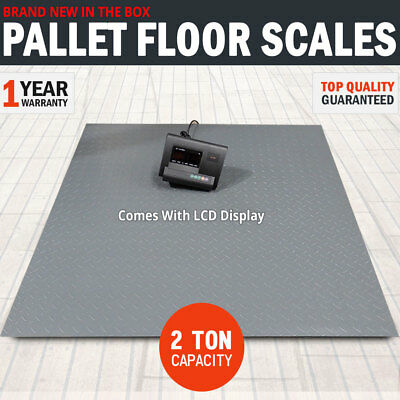 2 Ton Pallet Scales Industrial Warehouse Floor Freight Scales LCD Display