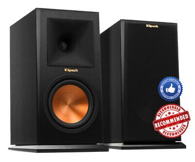 Pair Bookshelf Speakers Klipsch Rp-160M Rp160M Brand New ! Ebony - Warranty