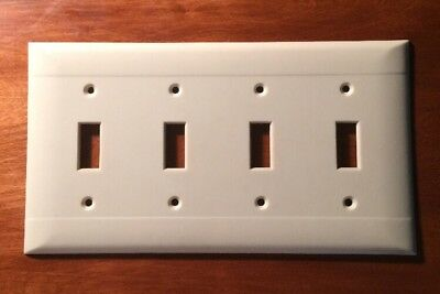 Vintage PS Sierra Electric Ivory Quad Light Switch Plate Cover
