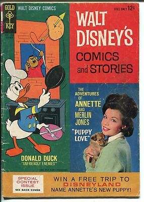 Walt Disney's Comics and Stories #289 1964-Gold Key-Annette-Carl Barks-GOOD/VG
