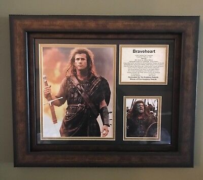Braveheart William Wallace Scottish 2 Handed Claymore ,Sheath , framed images