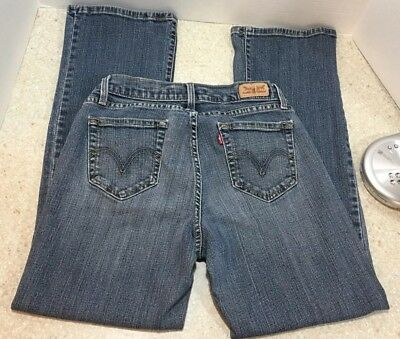 14fc0453ef7 LEVIS WOMENS JEANS Stretch Cotton 529 Curvy Boot Cut Medium Wash ...
