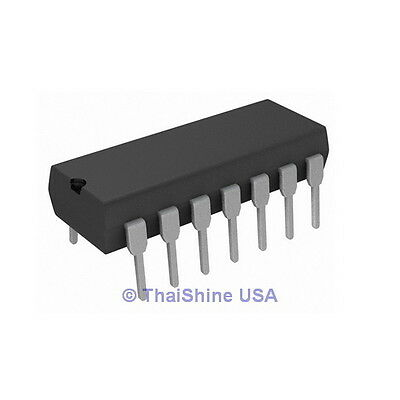 5 x 74HC14 HEX SCHMITT INVERTER CMOS TTL IC - USA Seller - Free Shipping