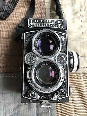Rolleiflex 3.5E Planar with strap and lens cover