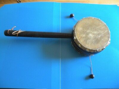 Native American Spin Drum Rattle Hand Drum ?  E15