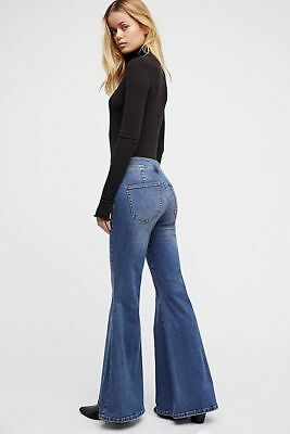 Free People Dawn Blue Low-Rise Flare Stretch Jeans NWT ($78) 25, 26, 27