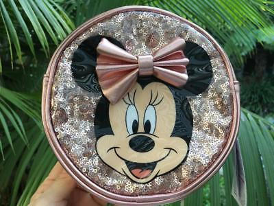 Disney Parks Minnie Mouse Rose Gold Sequin Round Crossbody Purse for Kids NWT