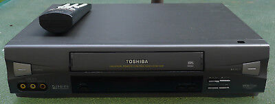 toshiba 4 head vcr vhs player recorder w 403 with video cables and rh picclick com