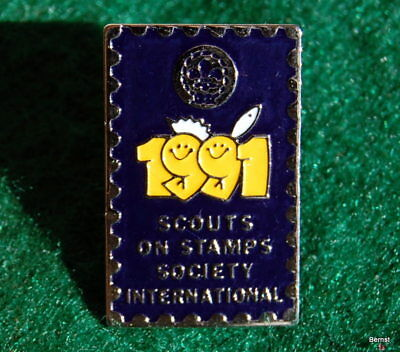 BOY SCOUT - 17th WORLD JAMBOREE HAT PIN - SCOUTS ON STAMPS