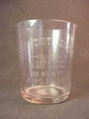 Joplin Distributing & Mfg Company - Joplin Missouri - Whiskey Shot Glass