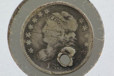 1835 Half Dime AG Holed