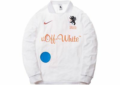 a9066b955fc Nike x Off White Mon Amour White Soccer Football Jersey Home Size Medium  Nikelab