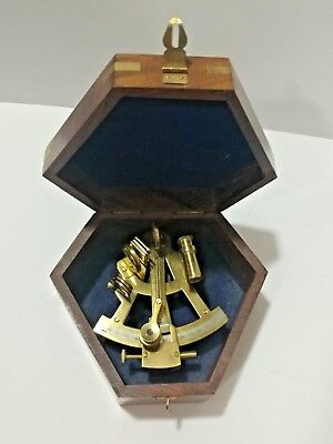 Nautical Solid Brass Vintage Marine Sextant