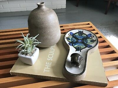 Mid Century Vintage Soholm Denmark Pottery Wall Mounted Candle Holder
