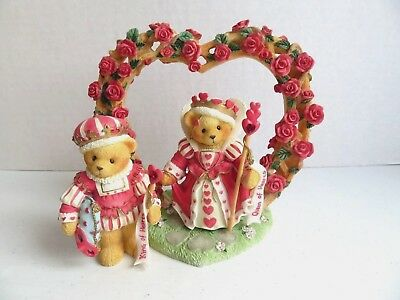 Cherished Teddies King & Queen of Hearts 3pc Collectors Set #302732
