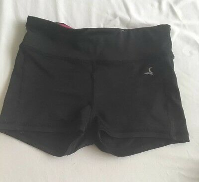 Girl's Black gymnastics shorts size Child 7-8