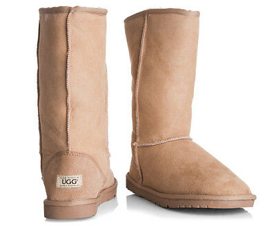 OZWEAR Connection Unisex Classic Long Ugg Boot - Sand
