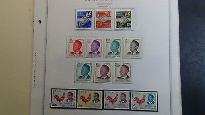Eq. Guinea Stamp collection on Minkus / Int'l album pages w/ 200