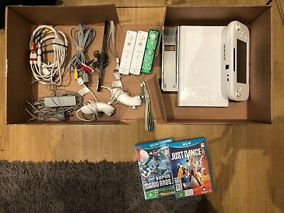 Nintendo Wii U Basic White Bundle with 3 Games, and all original accessories
