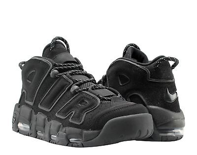 5ea1fa4bdb9ae Nike Air More Uptempo Black Black-Grey 3M Men s Basketball Shoes 414962-004