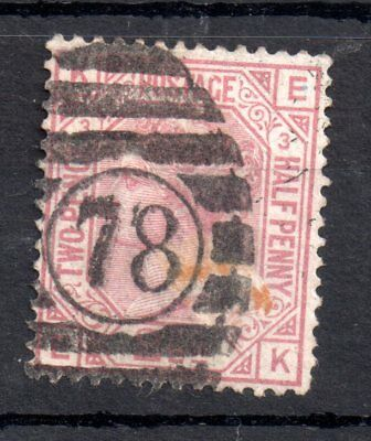 GB QV 2 1/2d rosy mauve SG139 Plate 1 used WS9503