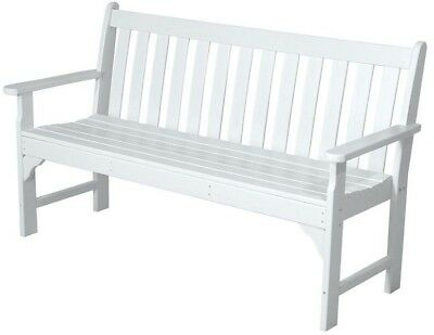 Superb 60 Inch White Patio Bench Outdoor Seat Chair Coastal Bralicious Painted Fabric Chair Ideas Braliciousco