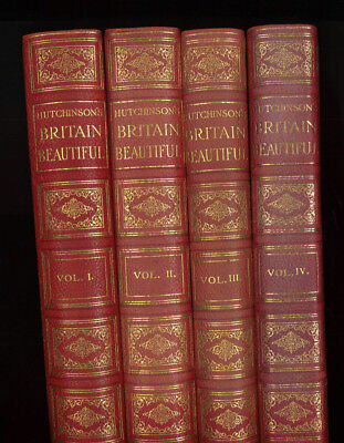 HUTCHINSON'S BRITAIN BEAUTIFUL Full Set of 4 hardbacks. Counties maps photos