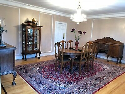 11-Piece  Hand Carved Antique Dining Set 120+ Yrs Old