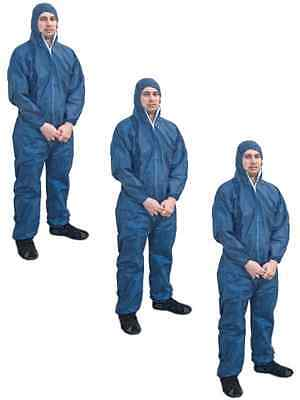 Asbestos Removal Rated Blue Disposable Overalls | Type 5/6 | 3 Pair Bundle