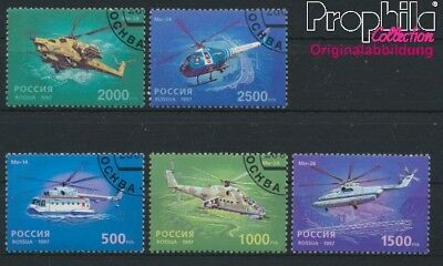 Russia 586-590 fine used / cancelled 1997 50 years Hubschrauber (8985149