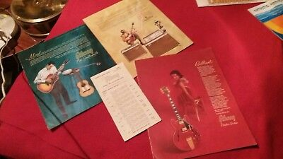 3 VINTAGE GIBSON INSTRUMENT CATALOGS 1965 GUITARS AMPLIFIERS & Price List