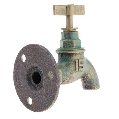 Rustic Non-Working Spigot Shaped Cast Iron Wall Mounted Heavy Duty Wall Hook
