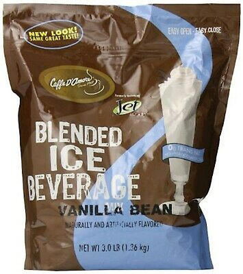 Jet DaVinci Blended Ice Beverage, Vanilla Bean, 3 Pound Bag JT04003