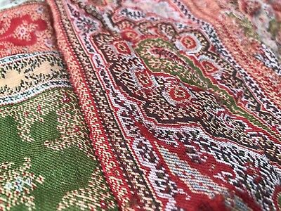Antique c1890 Beautiful French Handmade Paisley Boutis Quilt Project Damaged