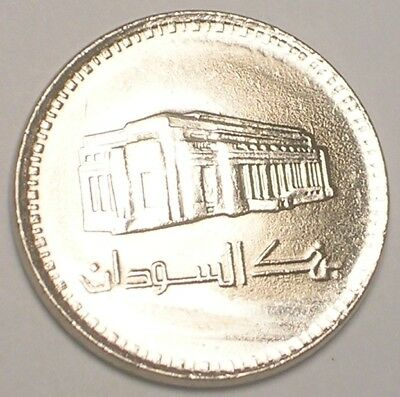1989 South Sudan Africa African 50 Ghirsh Bank Coin XF+