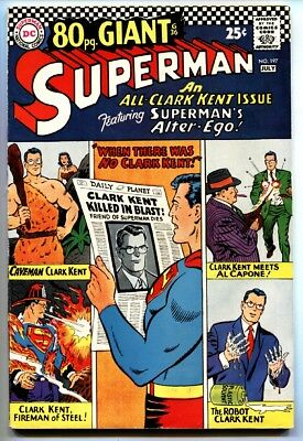 SUPERMAN #197 comic book-1967-80 PAGE GIANT-DC COMICS-FLASH-BATMAN