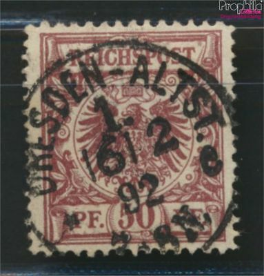 German Empire 50d D proofed used 1889 Drawing numbers/Eagle (9036636