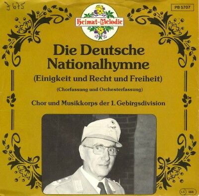 Vinyl Single : Musikkorps der 1. Gebirgsdivision - Nationalhymne J675